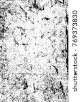 grunge black and white pattern. ... | Shutterstock . vector #769373830