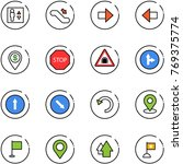 line vector icon set   elevator ... | Shutterstock .eps vector #769375774