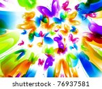 colorful background with... | Shutterstock .eps vector #76937581