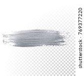 silver paint brush stain or... | Shutterstock .eps vector #769377220