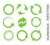 green round recycle icons set | Shutterstock . vector #769377430