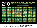 mega green gradient set. 210...