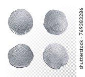 silver glitter paint brush... | Shutterstock .eps vector #769383286
