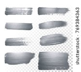 silver glitter paint brush... | Shutterstock .eps vector #769384363