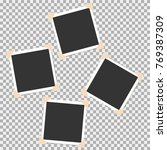 set of photo frame with angle ... | Shutterstock .eps vector #769387309