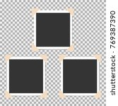 set of photo frame with angle ... | Shutterstock .eps vector #769387390