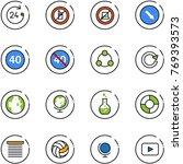 line vector icon set   24 hours ... | Shutterstock .eps vector #769393573