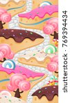 candy land vertical image... | Shutterstock .eps vector #769394434