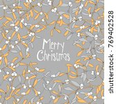merry cristmas card with... | Shutterstock .eps vector #769402528