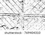 grunge black and white pattern. ... | Shutterstock . vector #769404310