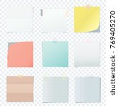 bright square colored school... | Shutterstock . vector #769405270