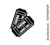 cinema tickets icon. flat... | Shutterstock . vector #769405909