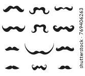 set of mustache. flat cartoon...   Shutterstock . vector #769406263