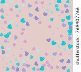 hearts confetti  bright... | Shutterstock .eps vector #769407766