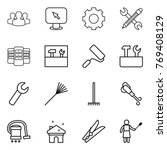 thin line icon set   group ... | Shutterstock .eps vector #769408129