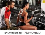 personal fitness trainer... | Shutterstock . vector #769409830