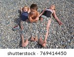 siblings have fun time on the... | Shutterstock . vector #769414450