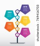 vertical timeline infographics. ... | Shutterstock .eps vector #769416703