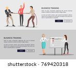 business training web posters... | Shutterstock .eps vector #769420318