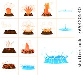 stages of volcanic eruption and ...   Shutterstock .eps vector #769420540