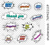 comic collection sale and... | Shutterstock .eps vector #769421119
