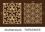 laser cutting set. woodcut... | Shutterstock .eps vector #769424653
