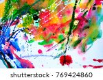 abstract watercolor texture.... | Shutterstock . vector #769424860