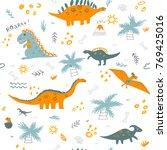vector seamless childish... | Shutterstock .eps vector #769425016