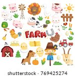 farm animal vector set | Shutterstock .eps vector #769425274