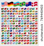 all waved around the world... | Shutterstock .eps vector #769440403