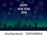 happy new year 2018 background | Shutterstock .eps vector #769440844