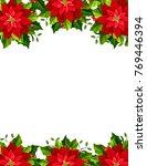 vector christmas greeting card... | Shutterstock .eps vector #769446394