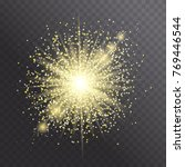 glow light effect. star burst... | Shutterstock .eps vector #769446544