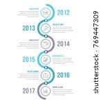 vertical timeline infographics... | Shutterstock .eps vector #769447309