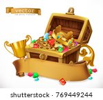 treasure chest. 3d vector icon | Shutterstock .eps vector #769449244