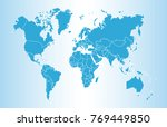 blue world map vector | Shutterstock .eps vector #769449850