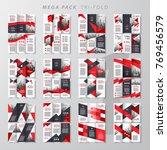 mega pack tri fold design... | Shutterstock .eps vector #769456579