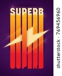 retro poster design with... | Shutterstock .eps vector #769456960