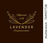 vector lavender logo design...   Shutterstock .eps vector #769457728
