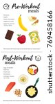 vector infographic with pre ... | Shutterstock .eps vector #769458166