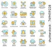 icons of fintech technologies... | Shutterstock .eps vector #769459228