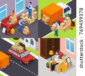 relocation isometric concept... | Shutterstock .eps vector #769459378