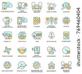icons for e business. the thin... | Shutterstock .eps vector #769460404