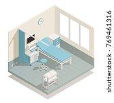 hospital intensive care unit... | Shutterstock .eps vector #769461316