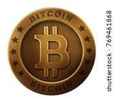 bitcoin image illustration ... | Shutterstock . vector #769461868