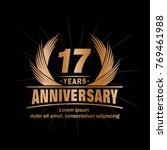 17 years design template.... | Shutterstock .eps vector #769461988