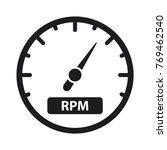 speedometer vector icon  | Shutterstock .eps vector #769462540