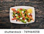 salmon salad  feta cheese ...