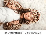 happy young woman with a smile... | Shutterstock . vector #769464124