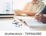 university studying friends... | Shutterstock . vector #769466380